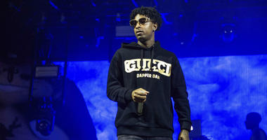 In this Sunday, Oct. 28, 2018, file photo, 21 Savage performs at the Voodoo Music Experience in City Park in New Orleans. Authorities