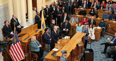 Governor Phil Murphy delivers his Fiscal Year 2019 Budget Address in Trenton on March 13, 2018.