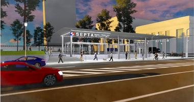 A rendering of the renovations set for 30th Street Station.