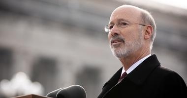 Gov. Tom Wolf speaks at his 2019 inauguration, Jan. 15, 2019, Harrisburg, Pennsylvania.
