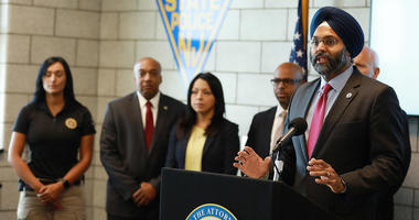 New Jersey Attorney General Gurbir Grewal holds a press conference on immigration and law enforcement in Newark, N.J. on Friday, Sept. 27, 2019.