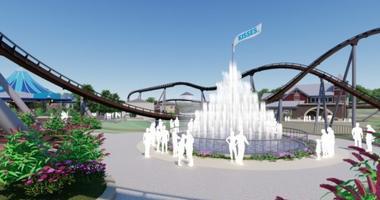 Chocolatetown KISSES Fountain