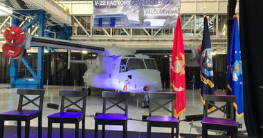 Boeing officially unveiled its new $115 million factory for the V-22 Osprey.