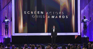 FILE - In this Jan. 29, 2017 file photo, Ashton Kutcher presents the award for outstanding performance by a female actor in a comedy series at the 23rd annual Screen Actors Guild Awards in Los Angeles.