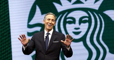 Starbucks CEO Howard Schultz speaks at the Starbucks annual shareholders meeting in Seattle in 2017.