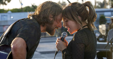 """Bradley Cooper, left, and Lady Gaga in a scene from the latest reboot of the film, """"A Star is Born."""""""