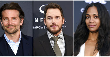 "This combination photo shows ""Guardians of the Galaxy"" actors, from left, Bradley Cooper, Chris Pratt and Zoe Saldana, who, along with six other main cast members, have issued an open letter in support of ousted director James Gunn."