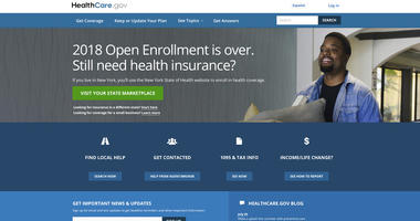 The HealthCare.gov main page. The Trump administration is clearing the way for insurers to sell short-term health plans as a bargain alternative to pricey Obamacare. But the policies don't have to cover pre-existing conditions and benefits are limited.