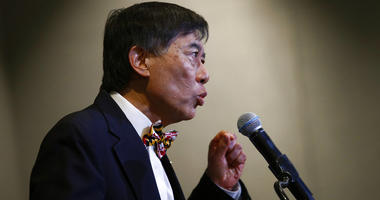 University of Maryland president Wallace Loh speaks at a news conference held to address the school's football program and the death of offensive lineman Jordan McNair, who collapsed on a practice field and subsequently died, in College Park, Md.