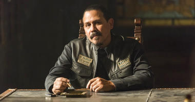 """This image released by FX shows Emilio Rivera as Marcus Alvarez in a scene from """"Mayans M.C.,"""" premiering on Sept. 4."""