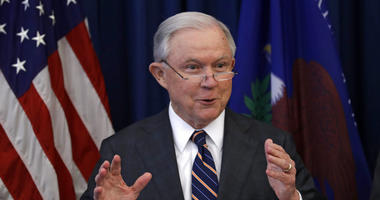 In this Aug. 22, 2018, file photo, Attorney General Jeff Sessions speaks during a news conference regarding the country's opioid epidemic in Cleveland.