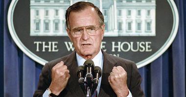 Former President George H W Bush