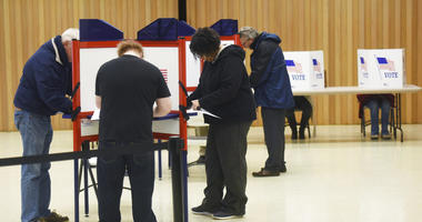 Voters cast their ballots Tuesday, Nov. 6, 2018, at Zion St. Joe United Church of Christ in St. Joseph, Mich.