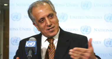 FILE - In this Jan. 5, 2009 file photo, then-U.S. Ambassador to the U.N. Zalmay Khalilzad, speaks to reporters at the United Nations headquarters.