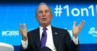 FILE - In this Thursday, April 19, 2018, file photo, former New York City Mayor and United Nations Special Envoy for Climate Action Michael Bloomberg speaks at World Bank/IMF Spring Meetings, in Washington.