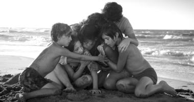 """Yalitza Aparicio, center, in a scene from the film """"Roma,"""" by filmmaker Alfonso Cuaron. On The film was nominated for a Golden Globe award for best foreign language film."""