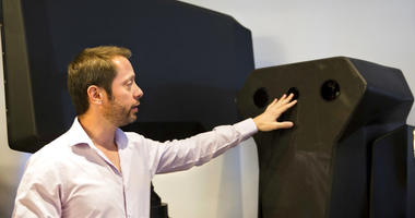 Product manager Asaf Lebovitz from the Israeli anti-drone company Skylock.