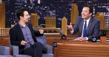 "Lin-Manuel Miranda and Jimmy Fallon on ""The Tonight Show Starring Jimmy Fallon."""