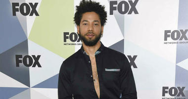 """FILE - In this May 14, 2018 file photo, Jussie Smollett, a cast member in the TV series """"Empire,"""" attends the Fox Networks Group 2018 programming presentation afterparty in New York."""