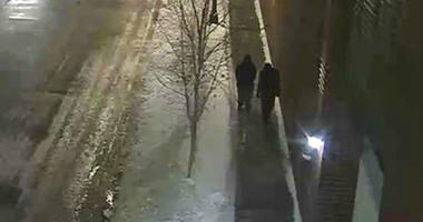 """This image provided by the Chicago Police Department and taken from surveillance video shows two people of interest in an attack on """"Empire"""" actor Jussie Smollett walking along a street in the Streeterville neighborhood of Chicago, early Tuesday, Jan. 29,"""