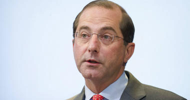FILE- In this Oct. 26, 2018, file photo Health and Human Services Secretary Alex Azar speaks about proposed reforms to Medicare Part B drug pricing policies at the Brookings Institute in Washington.
