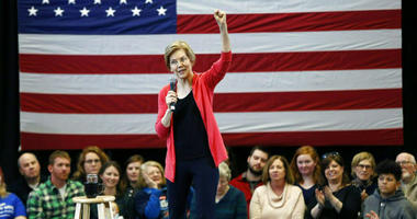 FILE - In this Jan. 12, 2019, file photo, Sen. Elizabeth Warren, D-Mass., speaks during an organizing event at Manchester Community College in Manchester, N.H.