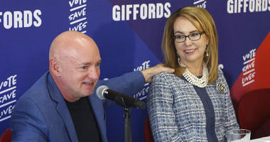 Retired NASA astronaut and Navy Capt. Mark Kelly and former U.S. Rep. Gabby Giffords