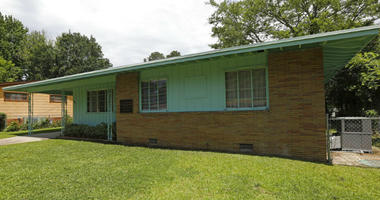 In this May 24, 2018, file photo, the home of civil rights leaders Medgar and Myrlie Evers, in Jackson, Miss.