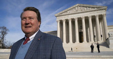 Mitch Hungerpiller of Birmingham, Ala., who invented a computerized system to automate the processing of returned mail, visits the Supreme Court on Feb. 14, 2019, where his decade-long fight with the post office over patent infringement will be heard.