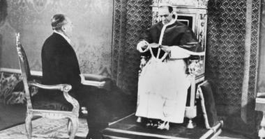 FILE - In this Feb. 27, 1940 file photo Pope Pius XII receives the special envoy to the Vatican, Myron C. Taylor, who presented a letter from U. S. President Franklin D. Roosevelt.
