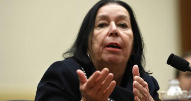 Christine Levinson, wife of Robert Levinson, a former FBI agent who vanished in Iran in 2007, testifies before the House Foreign Affairs Committee on Capitol Hill in Washington, Thursday, March 7, 2019.