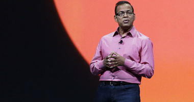 FILE - In this May 15, 2013, file photo, Amit Singhal, senior vice president and software engineer at Google Inc., speaks at Google I/O 2013 in San Francisco.