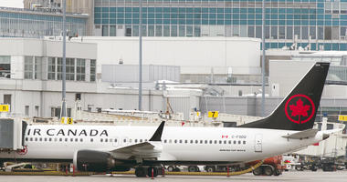 An Air Canada Boeing 737 Max 8 aircraft