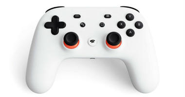 The controller for a video-game streaming platform called Stadia, positioning itself to take on the traditional video-game business.