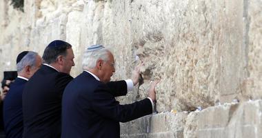 Israeli Prime Minister Benjamin Netanyahu, U.S. Secretary of State Mike Pompeo and U.S. Ambassador to Israel David Friedman