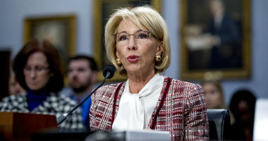 Education Secretary Betsy DeVos speaks during a House Appropriations subcommittee hearing on budget on Capitol Hill in Washington.