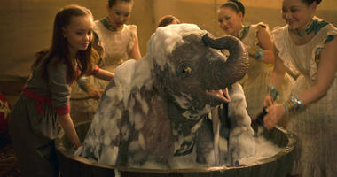 "This image released by Disney shows Nico Parker, left, in a scene from ""Dumbo."""