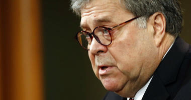 Attorney General William Barr speaks about the release of a redacted version of special counsel Robert Mueller's report during a news conference, Thursday, April 18, 2019, at the Department of Justice in Washington.