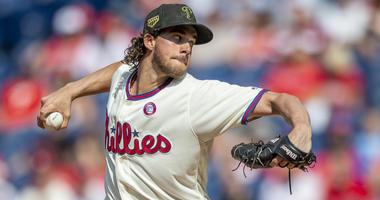 Philadelphia Phillies starting pitcher Aaron Nola