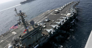USS Abraham Lincoln sails in the Arabian Sea.