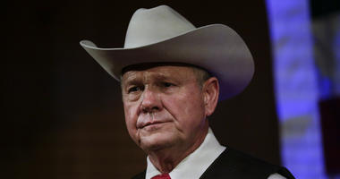 In this Sept. 25, 2017, file photo, Roy Moore speaks at a rally in Fairhope, Ala.