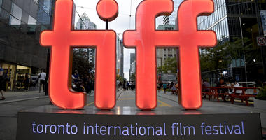 In this Thursday, Sept. 6, 2018, file photo, a view of a festival sign appears on Day 1 of the Toronto International Film Festival in Toronto.