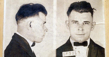 This file photo shows Indiana Reformatory booking shots of John Dillinger, stored in the state archives, and shows the notorious gangster as a 21-year-old.