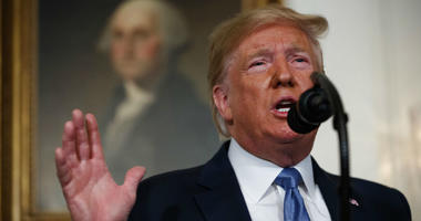 President Donald Trump speaks about the mass shootings in El Paso, Texas and Dayton, Ohio, in the Diplomatic Reception Room of the White House, Monday, Aug. 5, 2019, in Washington.
