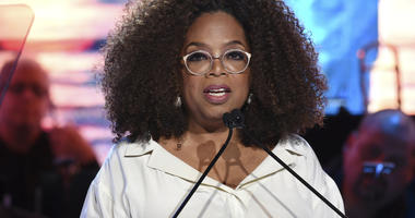 In this May 15, 2019 file photo, Oprah Winfrey speaks at the Statue of Liberty Museum opening celebration at Battery Park in New York.