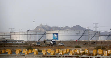 Storage tanks at North Jiddah Aramco oil facility