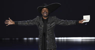 """Billy Porter accepts the award for outstanding lead actor in a drama series for """"Pose"""" at the 71st Primetime Emmy Awards on Sunday, Sept. 22, 2019, at the Microsoft Theater in Los Angeles."""