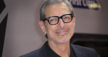 Jeff Goldblum poses for photographers at the photo call for the film Independence Day Resurgence at Euston Station in London.