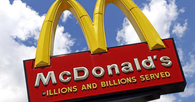 A sign outside a McDonald's restaurant in Pittsburgh is shown.