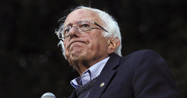 Democratic presidential candidate Sen. Bernie Sanders, I-Vt., pauses while speaking at a campaign event at Dartmouth College in Hanover, N.H.